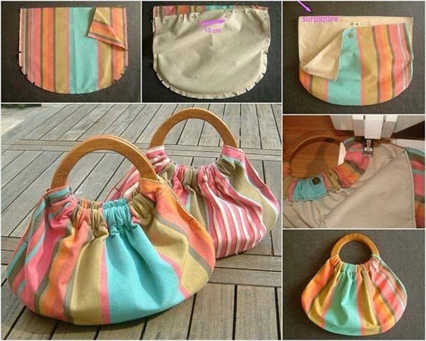 d68e569ab Wonderful DIY Easy Tote Bag | costura | Wooden handle bag, Bags y ...