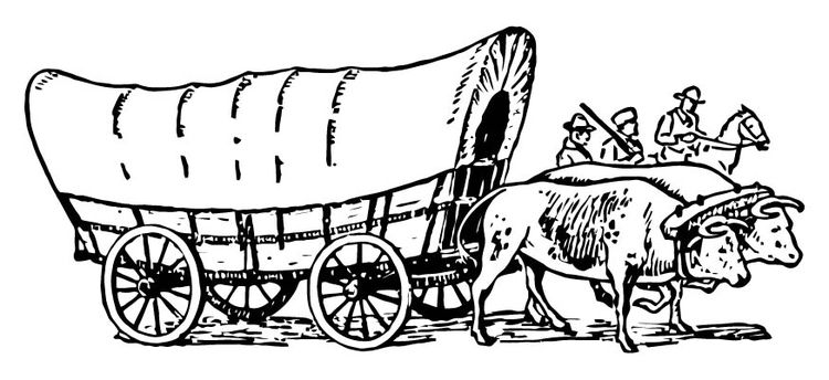 Coloring Page Covered Wagon Covered Wagon American History