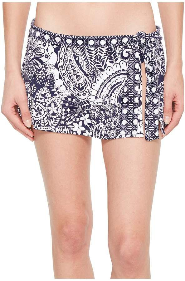 7769da852c6f7 Tommy Bahama Paisley Paradise Skirted Hipster Bikini Bottom Women's Swimwear