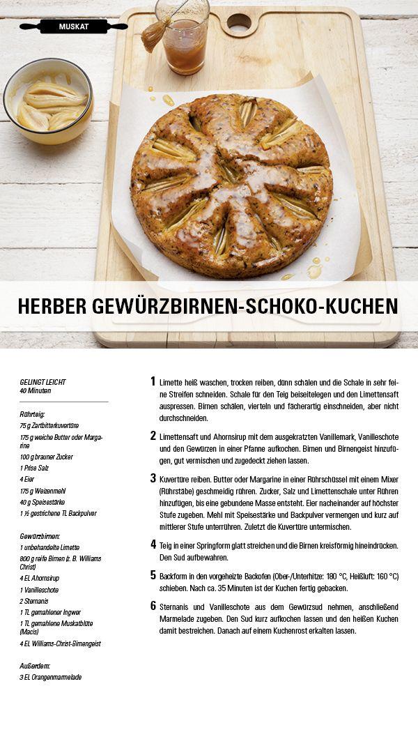 Rezept Herber Gewurzbirnen Schoko Kuchen Besuche Jetzt Die Gewurzwelt Von Juzo Kompressionsstrumpfe Fur Jeden Geschmack Teig Kuchen Kuchen Rezepte