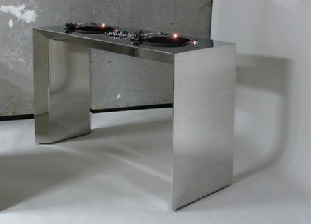 table de mixage en acier metrofarm | tables - Meuble Dj Design