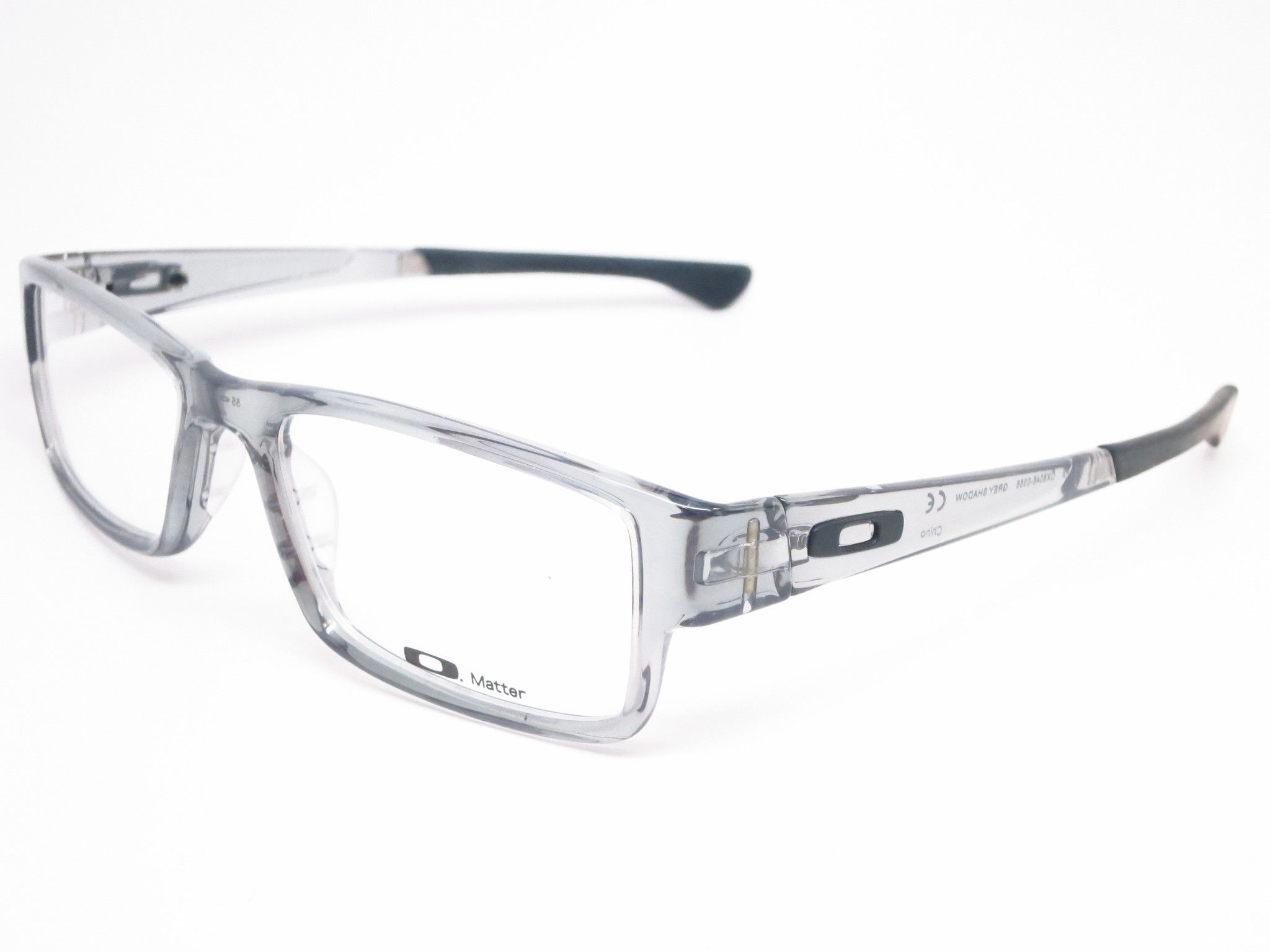 Oakley Airdrop Ox8046 0355 Grey Shadow Eyeglasses Grey Shadow Oakley Eyeglasses