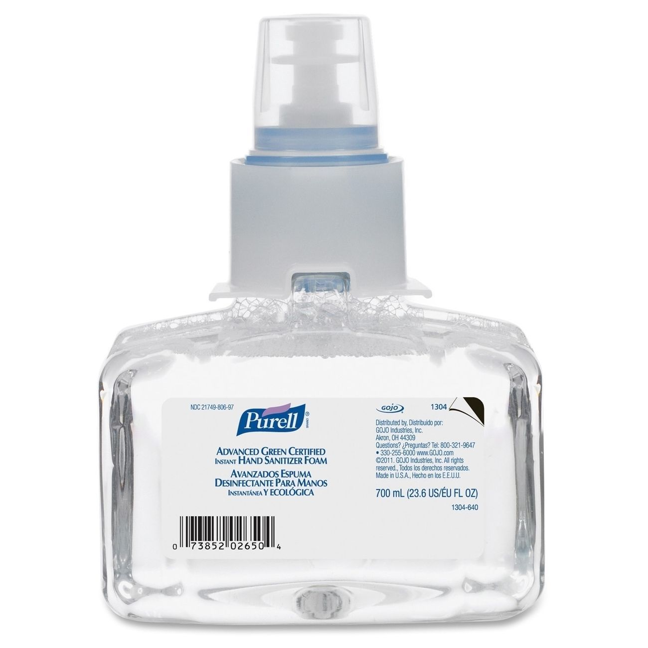 Gojo Purell Ltx 7 Instant Hand Sanitizer Refill Clear Comes In