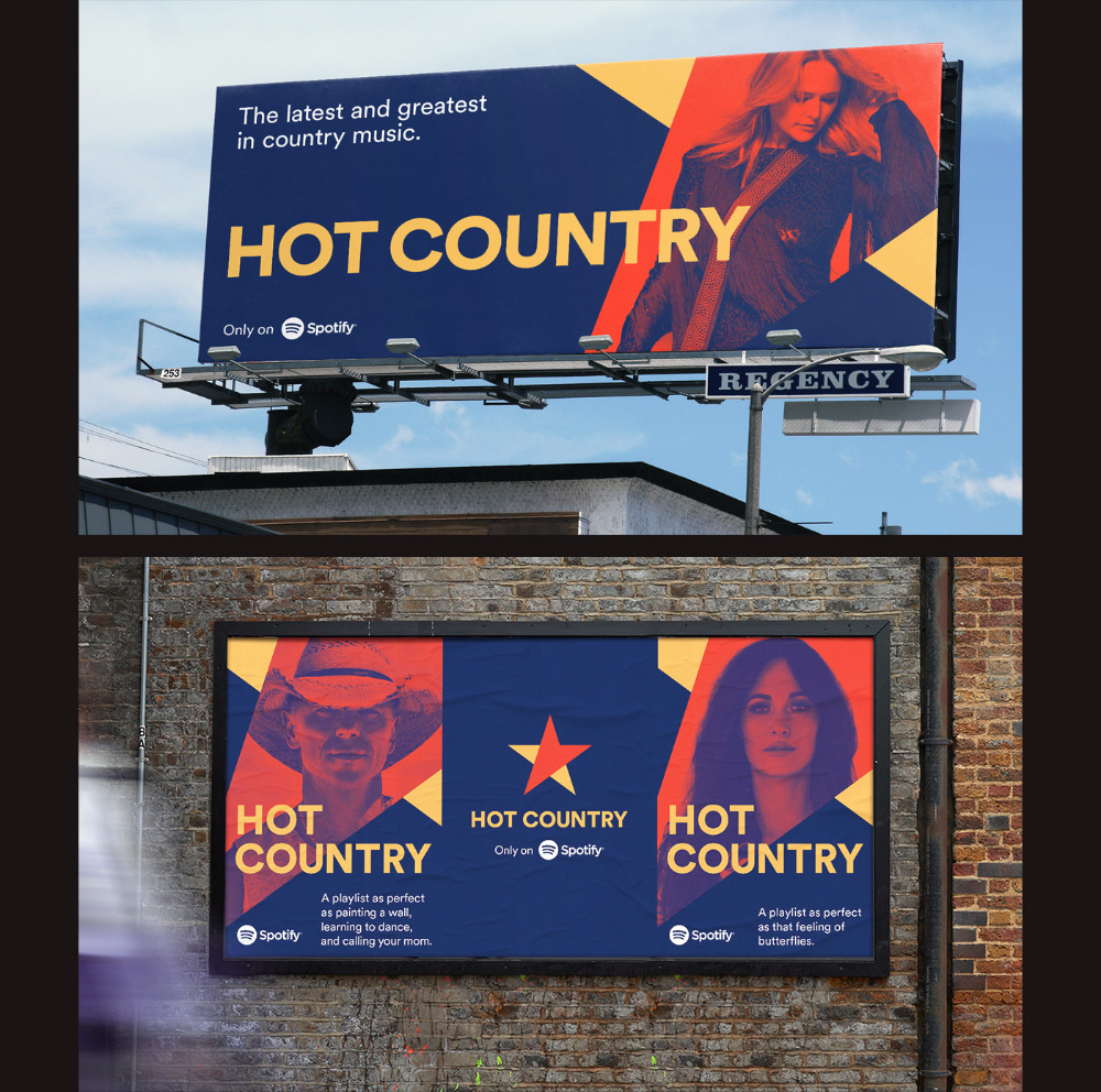 Hot Country Identity on Behance in 2020 Country playlist