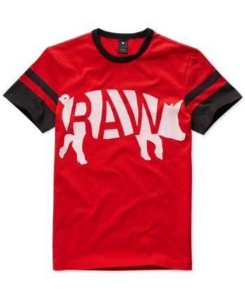2b24e061e11 G-Star Raw Mens Chinese New Year Velvet Flocked Graphic T-Shirt, Created  for Macy's - Red XXL