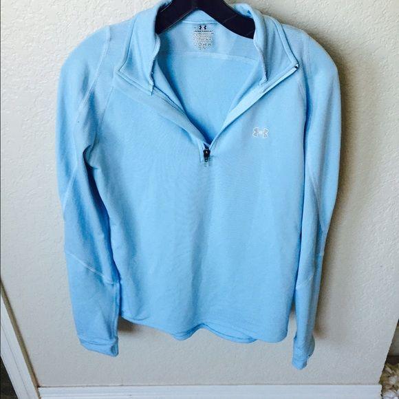 Baby Blue Under Armour Blue. Medium. Under Armour. Zip up. Long Sleeve. Under Armour Tops
