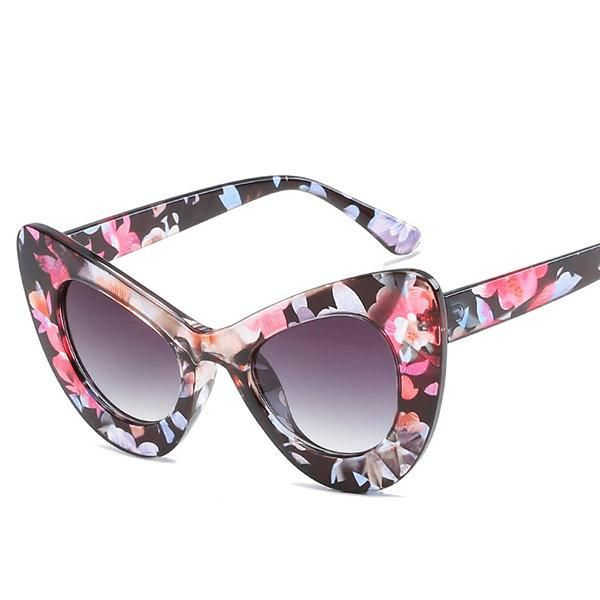 8fd8b25eb69 Summer Colors Cat Frame Eyes Sunglasses Outdoor Casual Anti-UV Glasses For  Women