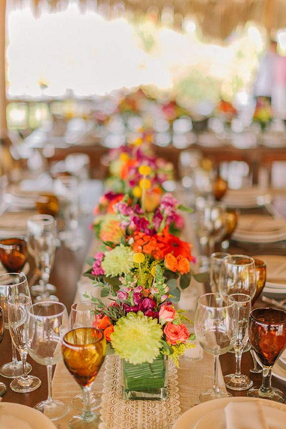 #tablescapes  Photography: Matt Edge Wedding Photography - mattedgeweddings.com  Read More: http://www.stylemepretty.com/2013/10/18/sayulita-mexico-wedding-from-matt-edge-photography/
