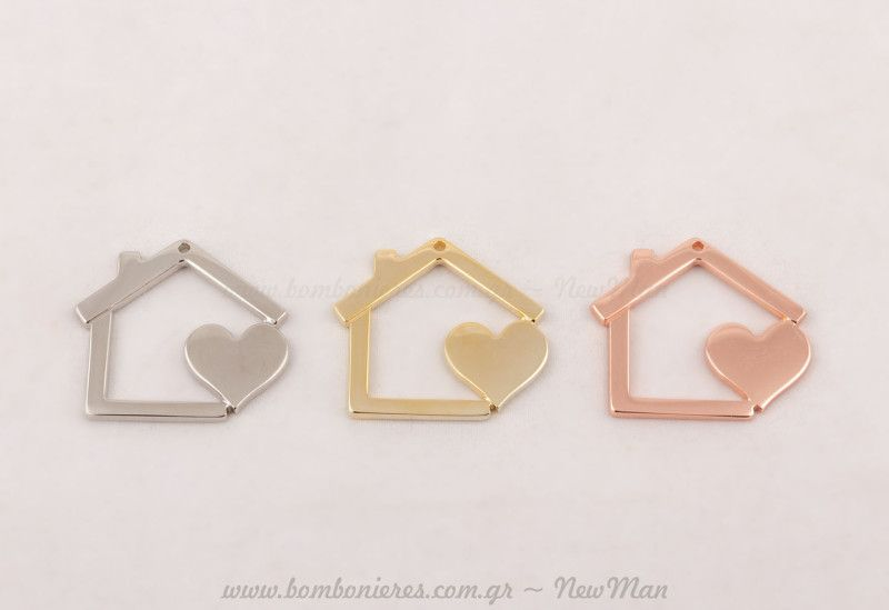 Σπίτι χρυσό, ασημί & ροζ-χρυσό! | bombonieres.com.gr