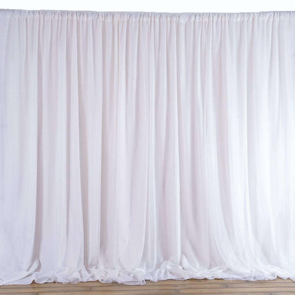 20 Ft X 10 Ft White Fabric Backdrop Wedding Party Photobooth Curtain Decorations Home Garden Weddi Decoracion Cortinas Cortinas Blancas Decoracion De Unas