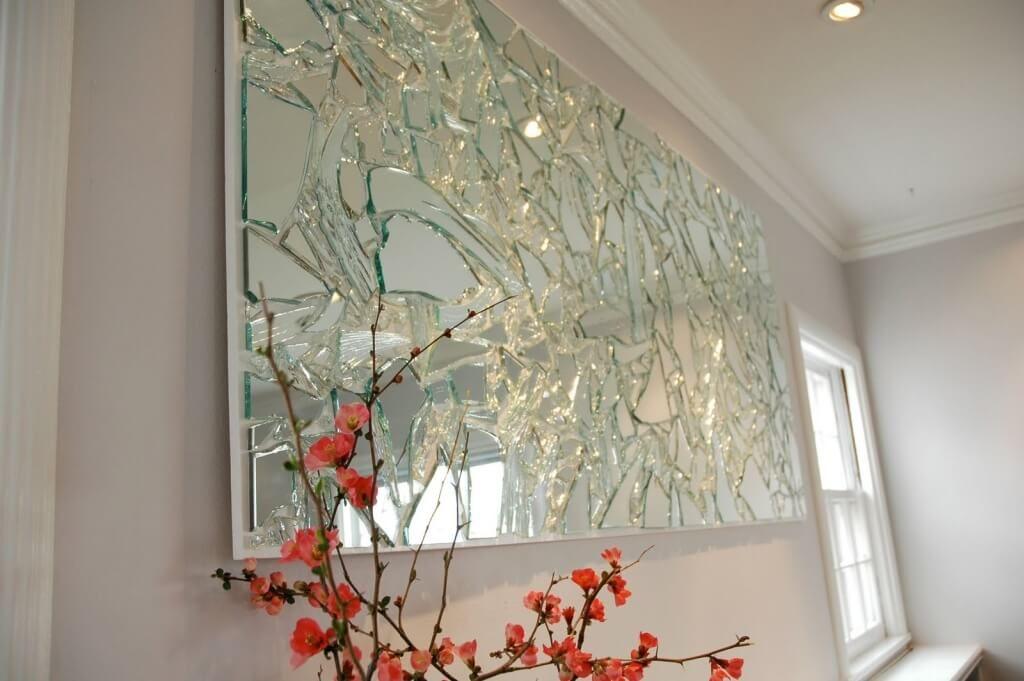 Home Decoration Elegant Art Broken Glass Mirror And Wall Mirrors
