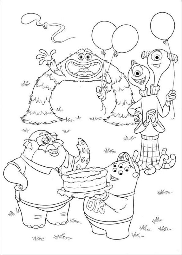 Monsters University Art Coloring Pages Monster Coloring Pages Disney Coloring Pages Cartoon Coloring Pages