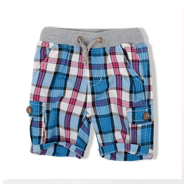 FREE SHIPPING Toddler/Boys HE Hello Enjoy Summer Plaid Shorts Size 2T-6 Boys