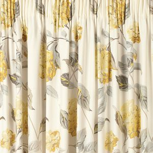 Hydrangea Camomile Pencil Pleat Ready Made Curtains
