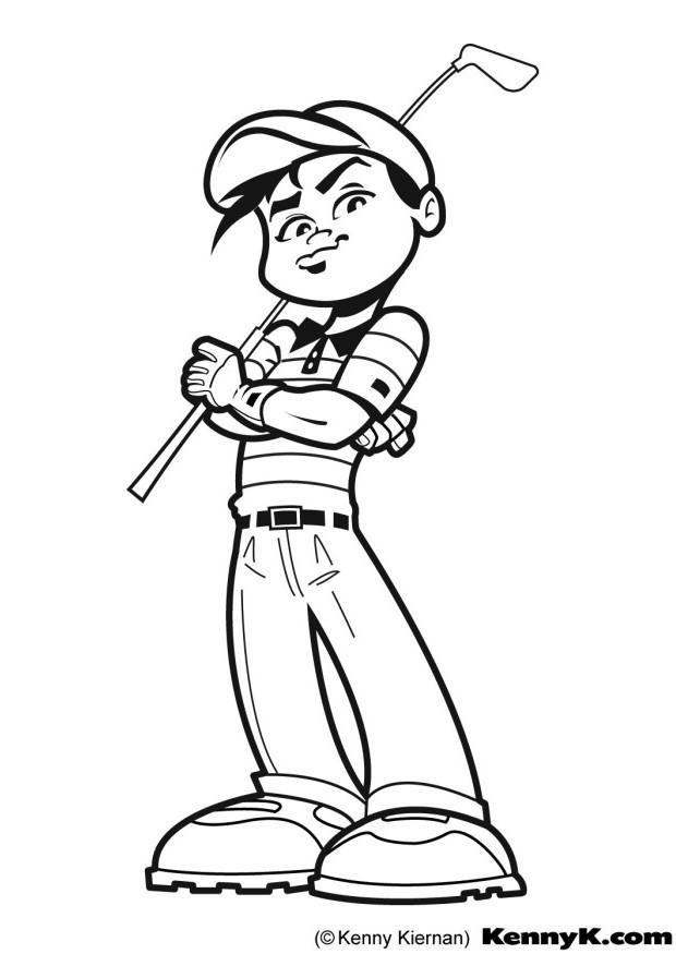 Golf Coloring Page Sports Coloring Pages Coloring Pages Golf Art