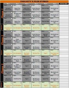 P90x Plus Workout Calendar   sport1stfuture org