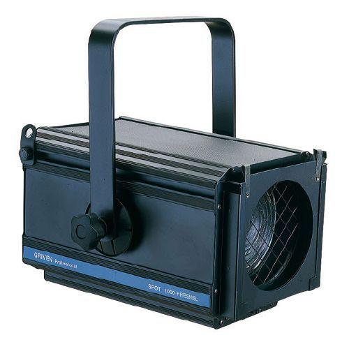 PR1221ArcoFR650/1000W  Proyector parateatro, conciertos ysalas de conferencias.Lalente Fresnelproporcionaun haz suave,difusay una con variaciónde ángulodel hazde 12 ° a52 °.El portalámparaspermite utilizar lámparas650ó1000WconGX9,5.Recubiertocon pinturaepoxi en polvonegro.UnViserade 4 hojasestá disponible como accesorio.Lente frontalØ 150mm. Para lámpara de 1000 watios con base GX9,5. Medidas: 287 x 422 x 387 mm Peso: 7 Kg