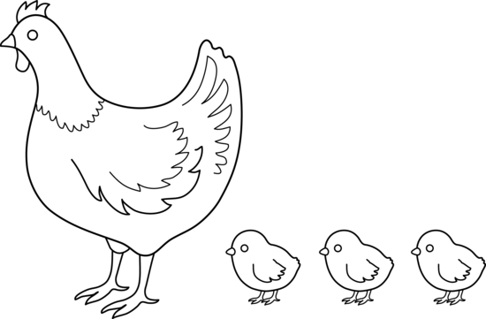 Hen And Chicks Coloring Page Free Clip Art Coloring Pages Hens And Chicks Black And White Chickens