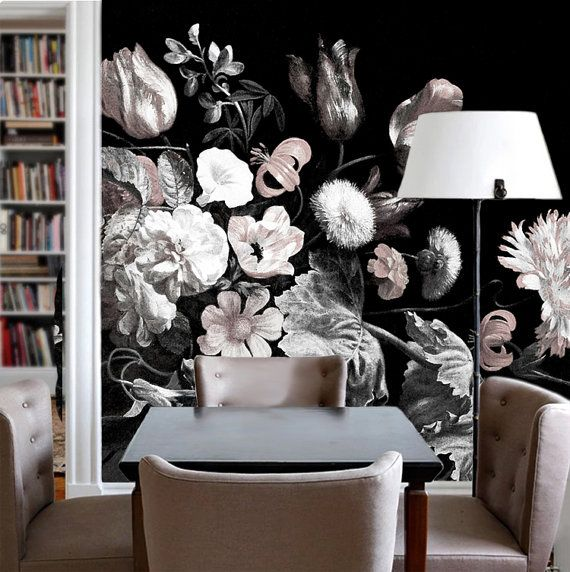 This Dark Floral Wallpaper Is Specially Designed And