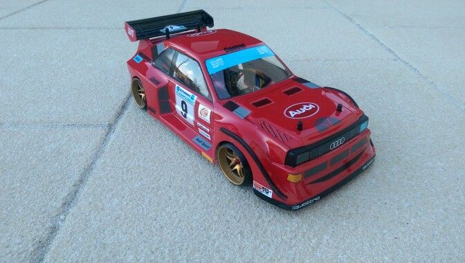 My audi quattro s1 rc drift car