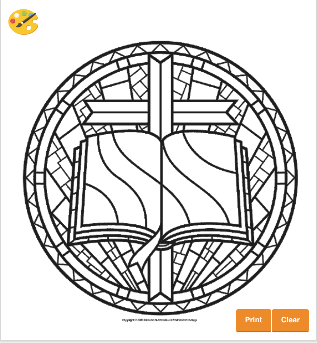 Stained Glass Bible Coloring Sheet #color #coloring #