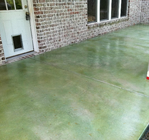 Green Colored Acid Stain Wilmington Nc Stained Concrete Design Elements Floors