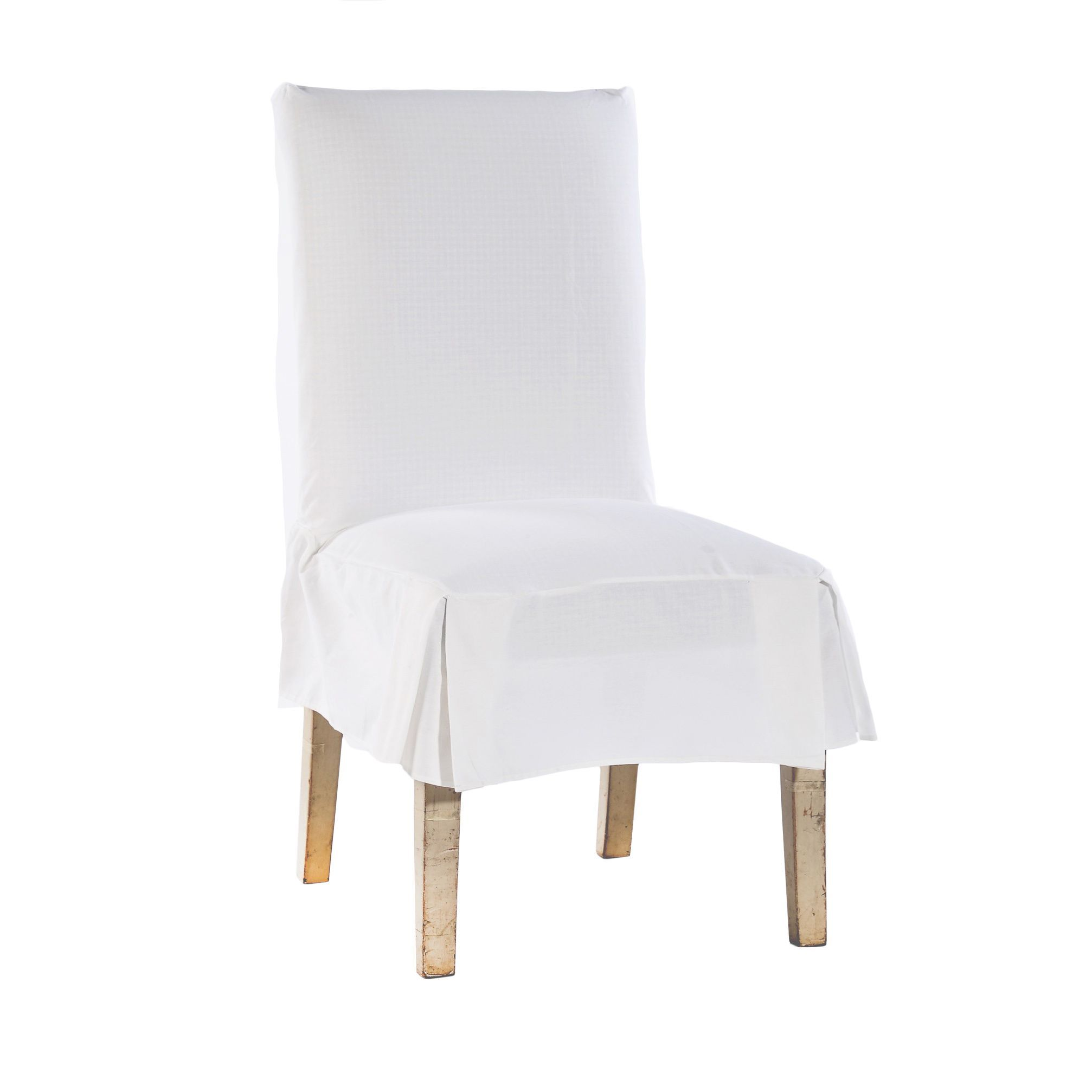 Miraculous Classic Cotton Duck Dining Chair Slipcovers Set Of 2 Pabps2019 Chair Design Images Pabps2019Com