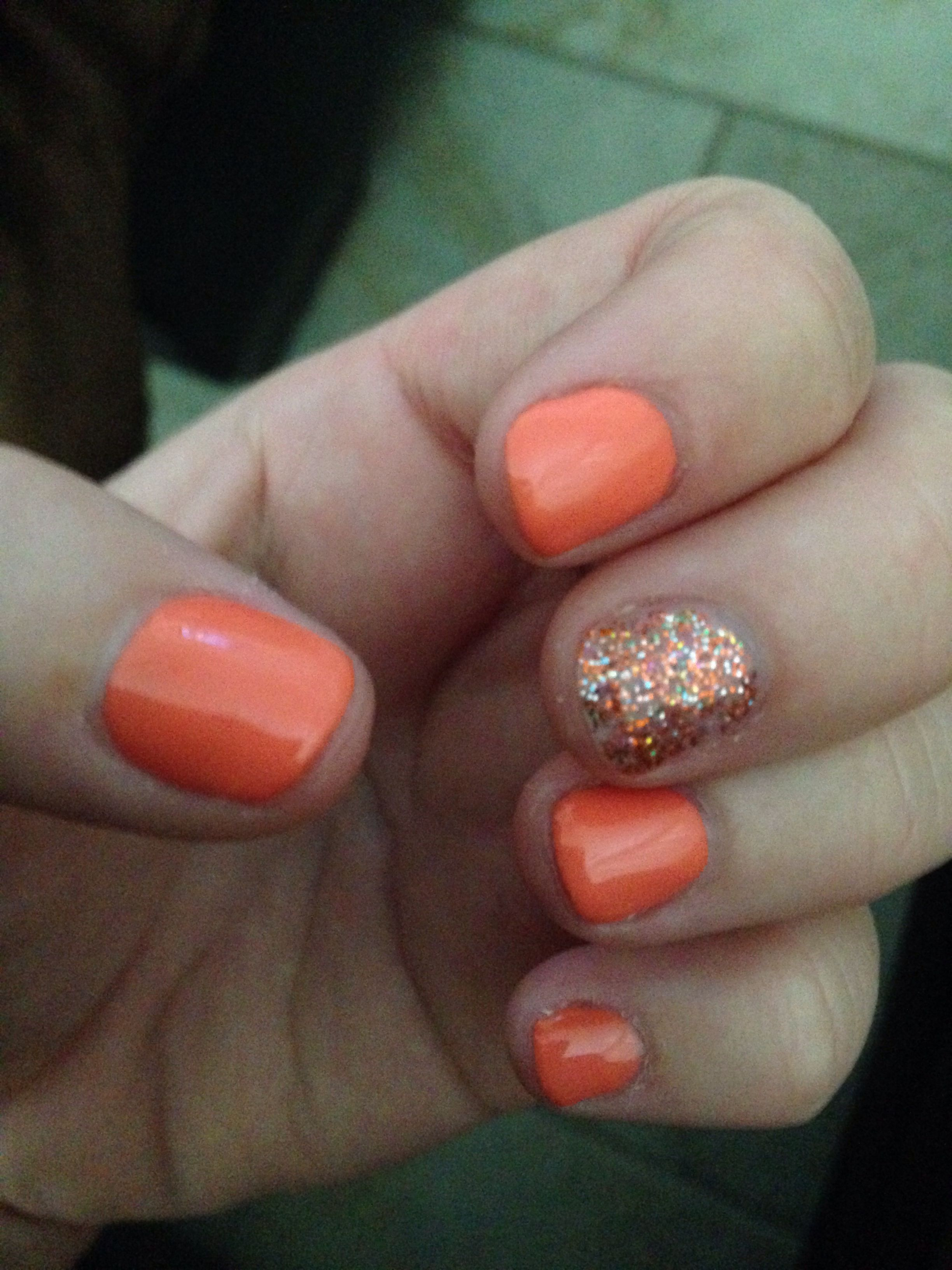 Could be a cute Halloween nail w/out being so bright orange or all ...