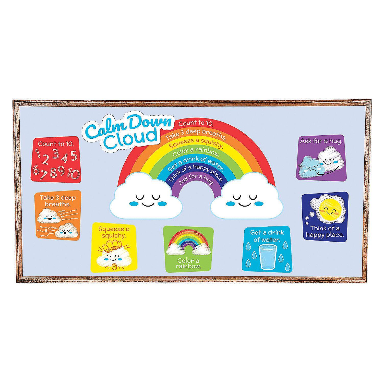 Calm Down Cloud Mini Bulletin Board Set Bulletin Board Sets Classroom Management Tool Kindergarten Activities