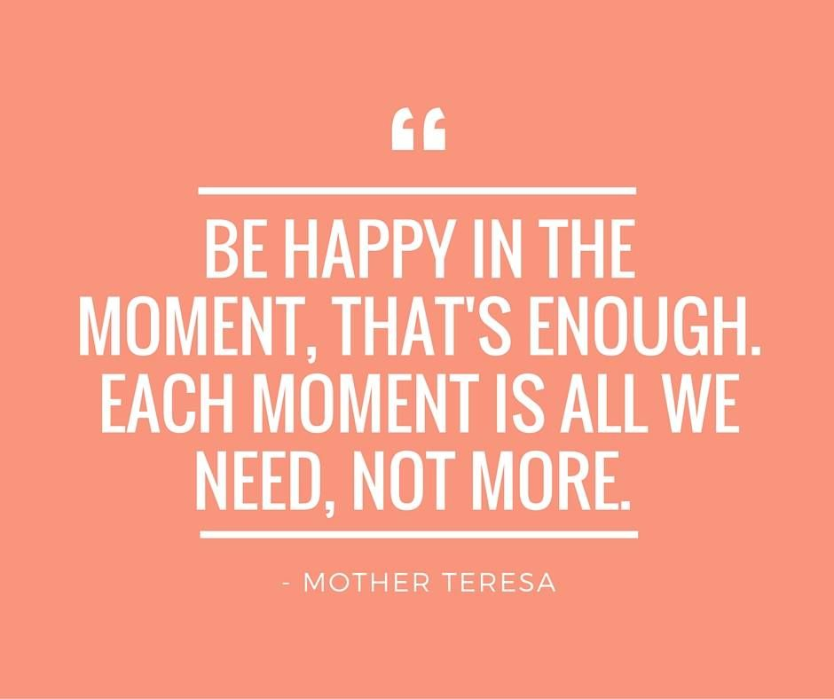 Be happy in the moment! #unitedweightloss #motivation #happy #motherteresa #health #wellness #balance #wellbeing