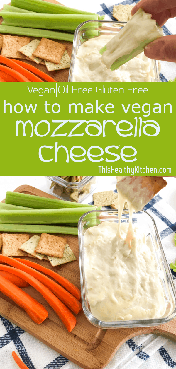 How To Make Vegan Mozzarella Cheese This Healthy Kitchen Recipe In 2020 Vegan Cheese Recipes Healthy Kitchen Vegan Mozzarella