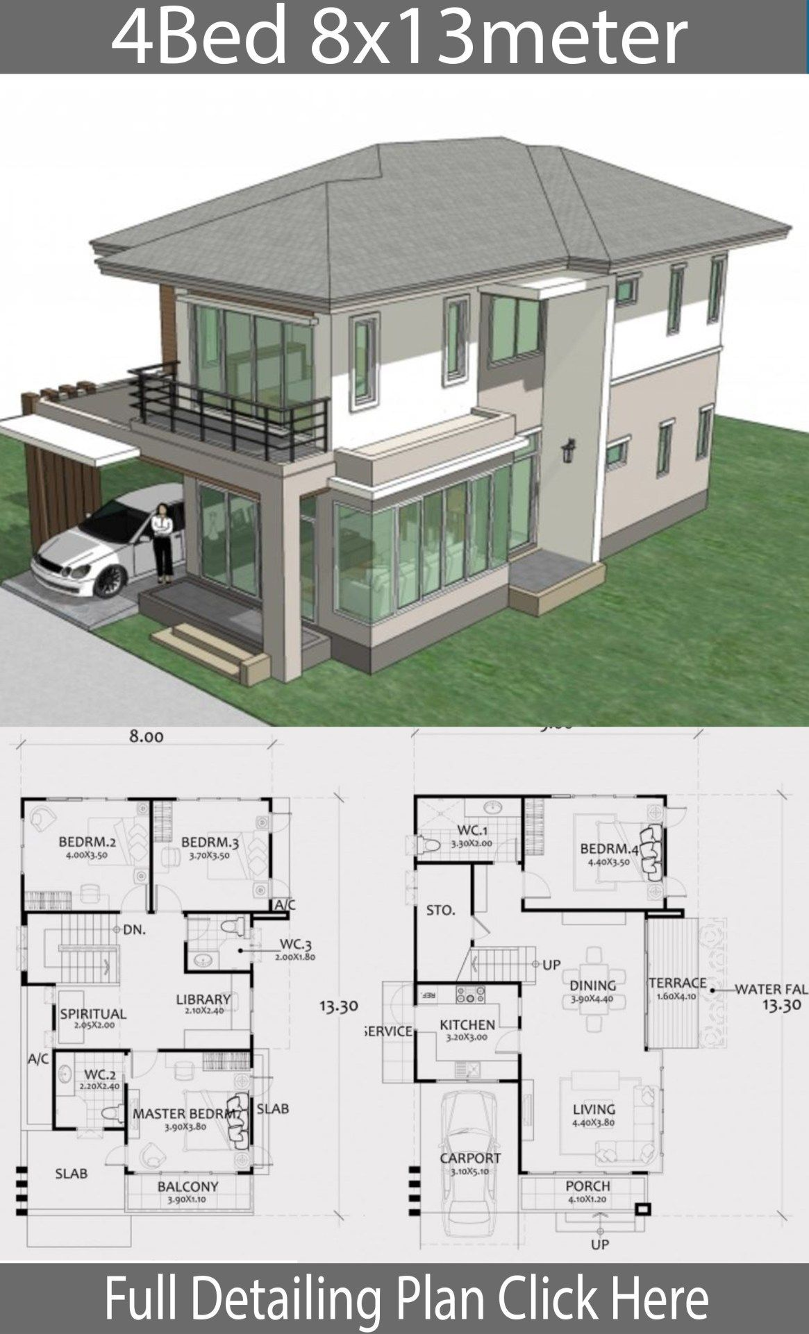 Home Design Plan 8x13m With 4 Bedrooms Home Design With Plansearch Homedesigns Atriums Projetos De Casas Projectos De Casas Arquitetura Casas