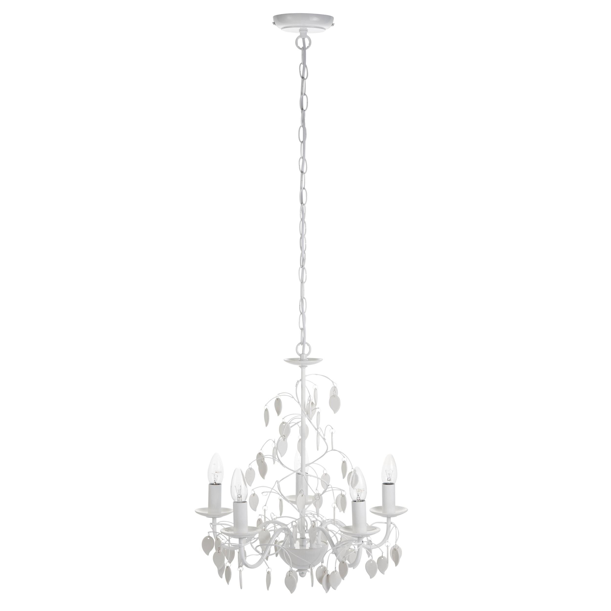 wilmslow porcelain leaf 5 arm chandelier