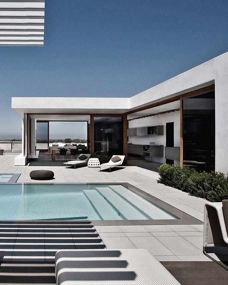 Modern Terrace Inspiration Piscine Exterieure Piscine Maison Maison Contemporaine