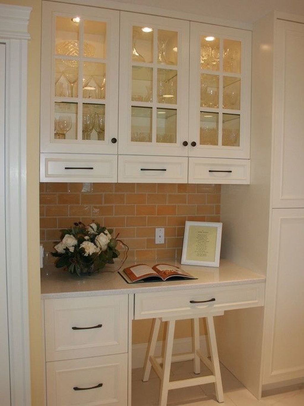 Kitchen Desk Ideas For Extra Activities Kitchen Desk Areas Cottage Kitchen Design Elegant Kitchens