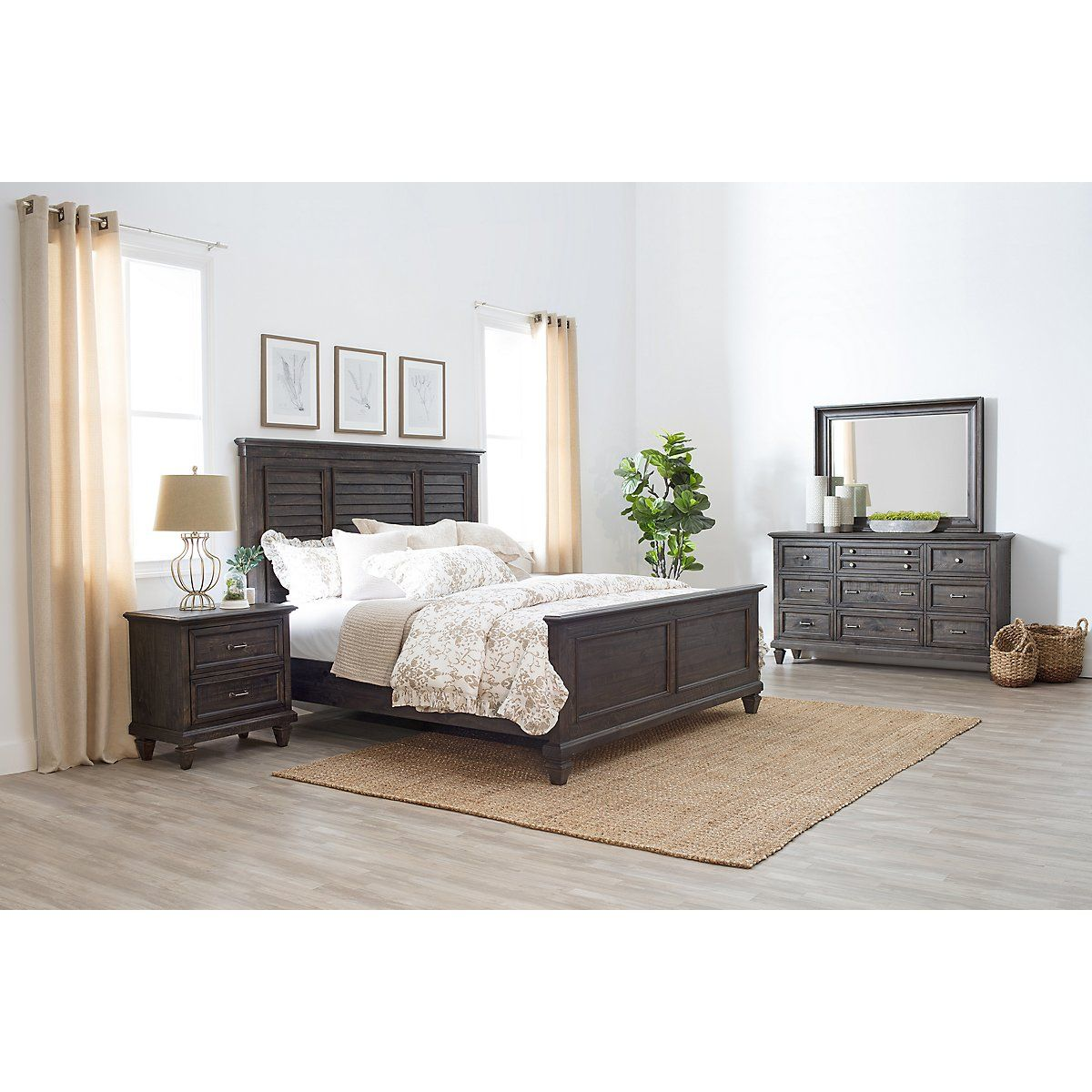 City Furniture Sonoma Gray Panel Bedroom Panel bed, Bed