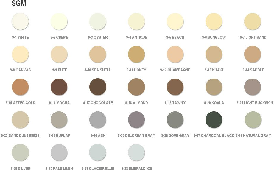 Grout Color Matching Color Chart By Grout Shield Gray Grout