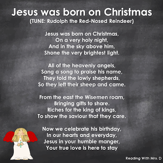 kids christian religious christmas song for sunday school written by desiree trott reading with mrsd