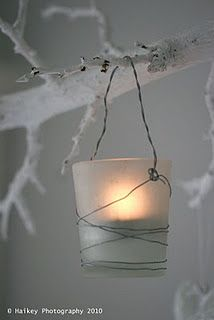 Tea light candle holders. would be cute on the tree with electric tealights instead of real ones in place of strand lights...