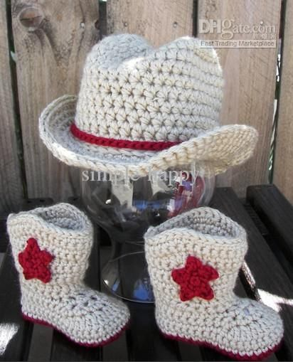 Crochet Baby Cowboy Hat And Boots Pattern Free Httpsknitting