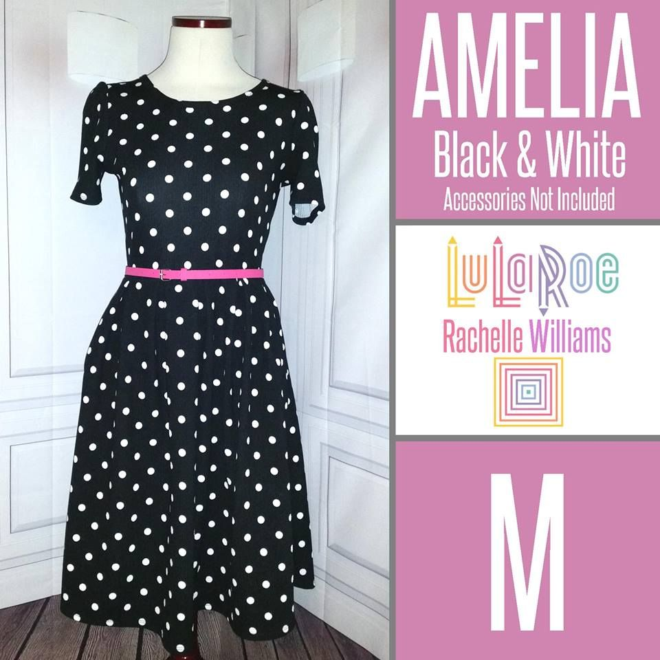 LuLaRoe Amelia Dress Black & White Polka Dots Get yours in my VIP ...