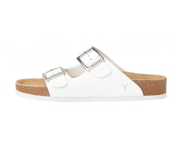 Slim White Windsor Smith Sandals
