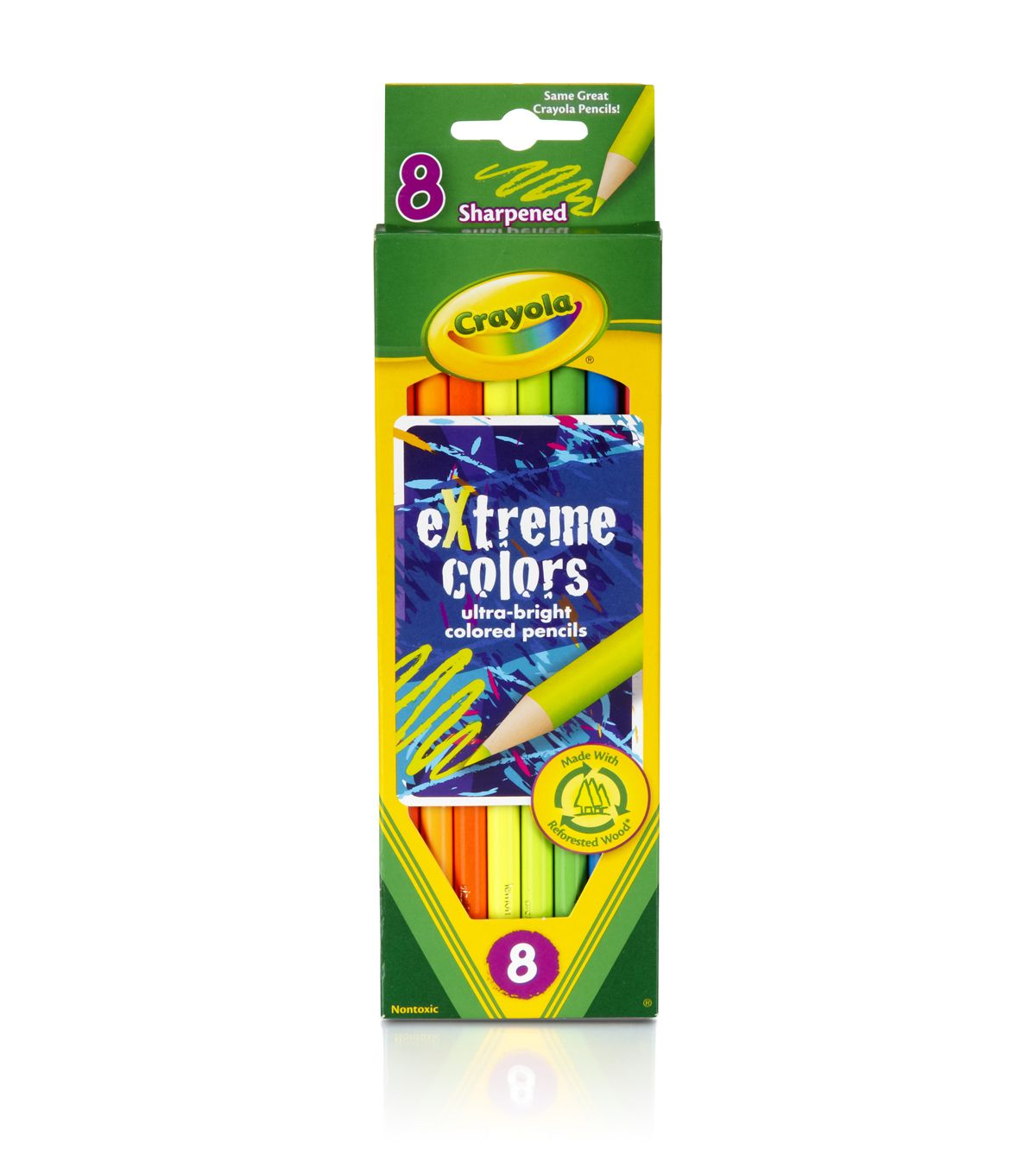 Crayola Extreme Colored Pencils 8 Pkg Long Colored Pencils