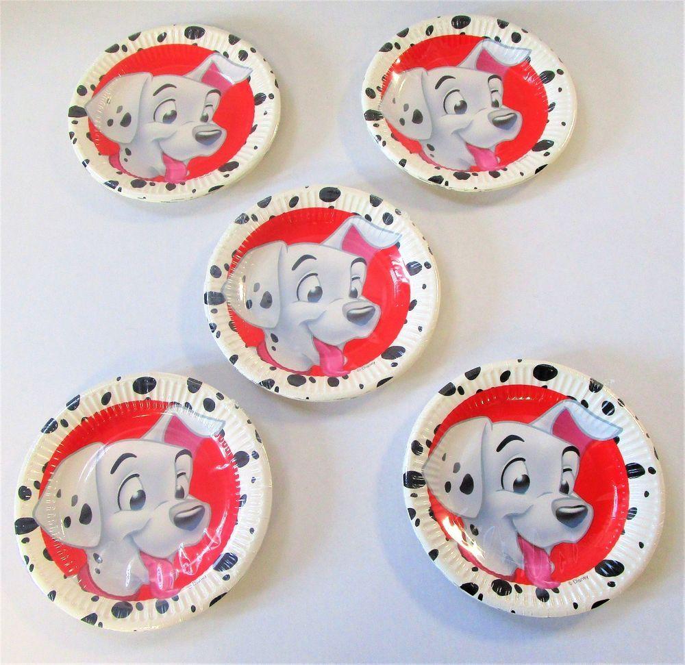Pack Of 40 Disney 101 Dalmatians 20 Cm Paper Plates Party Tableware Disney Birthdaychild Paper Plates Party Party Tableware Kids Birthday