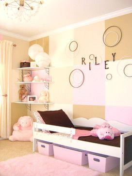 صورة غرفة نوم أطفال بنات بجدران وردية مع سجاد 8 ديكورات غرف نوم Small Kids Room Girl Room Bed