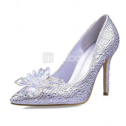 2018 New Arrivals Women's Shoes Best Seller Synthetic/Glitter Stiletto Heel  Heels/Pointed Toe Pumps/Heels Wedding/Party & Evening/Dress Silver | Pumps  heels ...