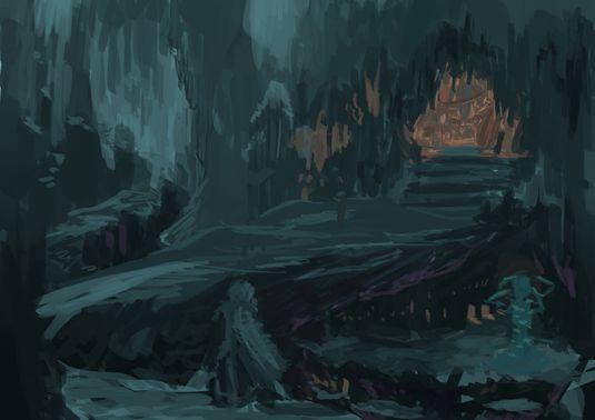 洞窟 イラスト Google 検索 地底湖 洞窟 イラスト Google検索