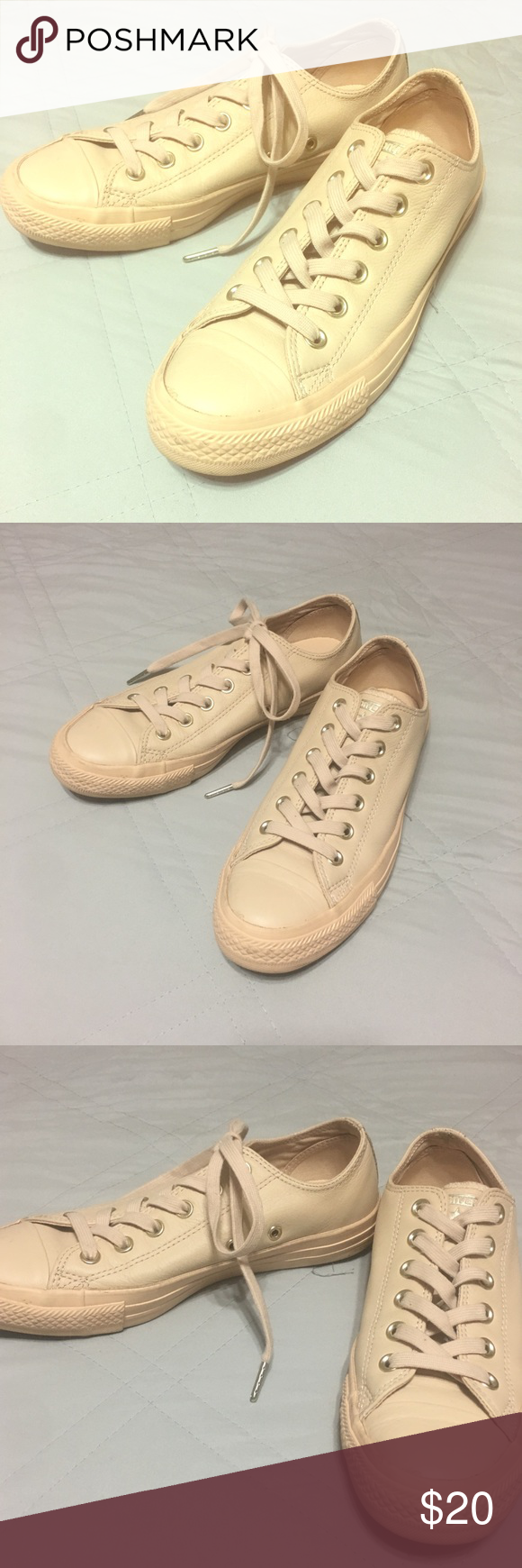319b05f8b07f31 ⭐️Cream colored converse shoes⭐ 👌🏼 Brand new