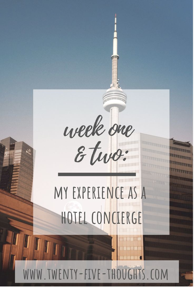 My Current Experience as a Hotel Concierge twenty five