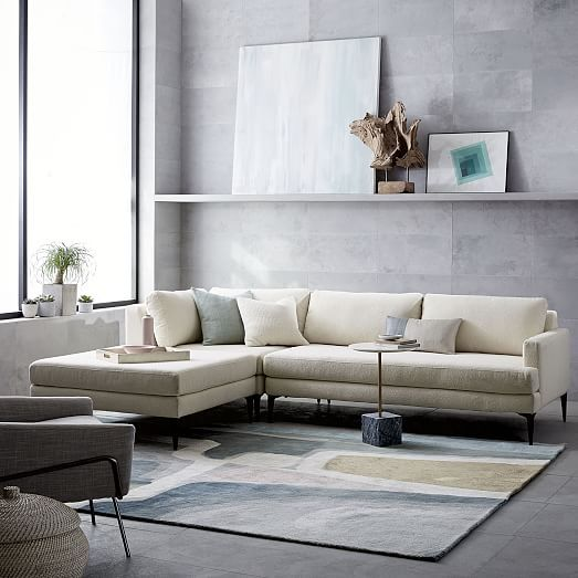 Andes 3 Piece Chaise Sectional Furniture Home